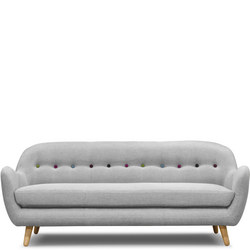 Retro Curved Sofa 3 Seat