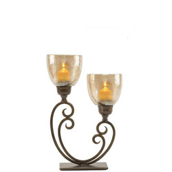2 Lightt Hurricane Candle Holder