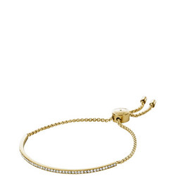 Jewellery Brilliance Gold Pave Slider Bracelet
