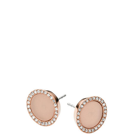 Jewellery Blush Acetate Disc Stud Earrings Rose