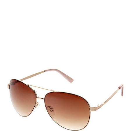 Rio Aviator Sunglasses Gold