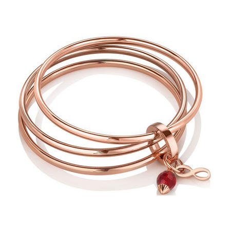 Triple Bangle Birthstone January