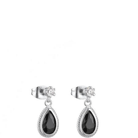 Drop Earrings Black Stone