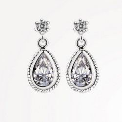 ER403C Earrings Clear Stone