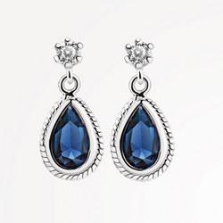 ER403SB Earrings Blue Stone