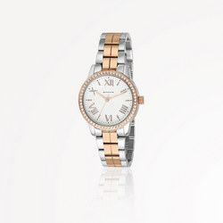 Rose Gold Silverplate Watch Round