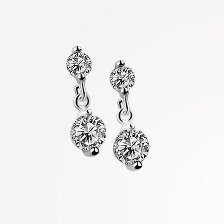 JC2650 Drop Earrings Clear Stone