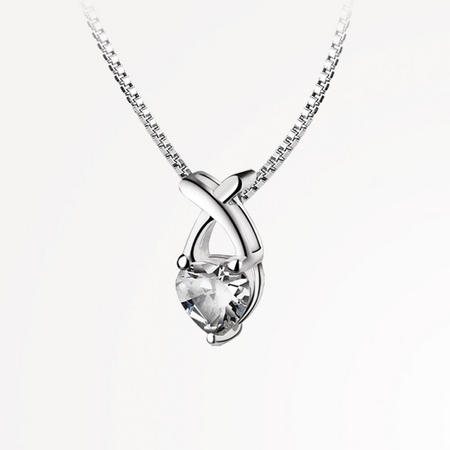 JC2651 Pendant Clear Heart Stone