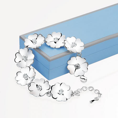 LB409 Waterlily link Bracelet