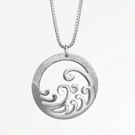 Silverplate Ocean Pendant