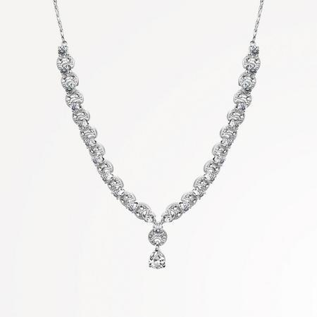 VNL194 Vintage Clear Stone Necklace