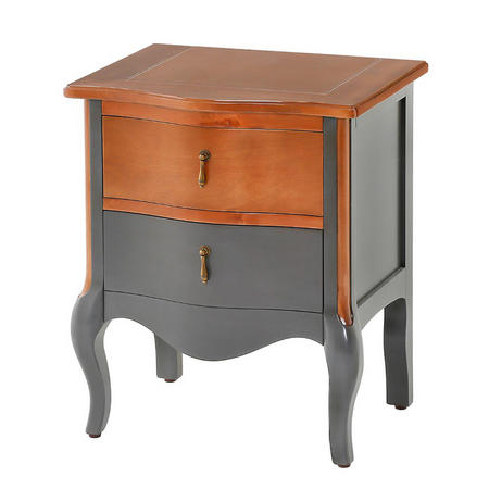 Dawson 2 Drawer Table Graphite
