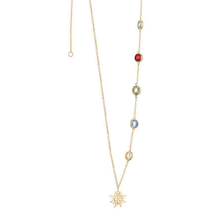 Amy Huberman Necklace with Multi Coloured stones
