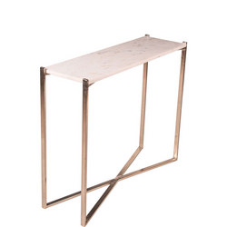 Nola Nikkel And Marble Console Table