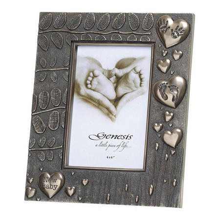 "New Baby Frame Picture Frame 4"" x 6"" Bronze"