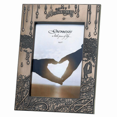 "New Anniversary Frame Picture Frame 5"" x 7"" Bronze"