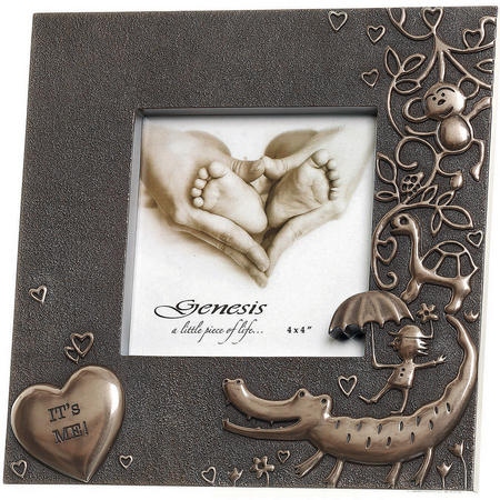 """New Its Me! Childs Frame Picture Frame 4 x 4"""" Bronze"""