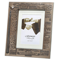 "New Graduation Frame Picture Frame 4 x 6"" & 5 x 7"" Bronze"