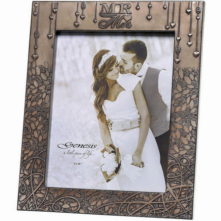 "Wedding Frame Picture Frame 8 x 10"" Bronze"