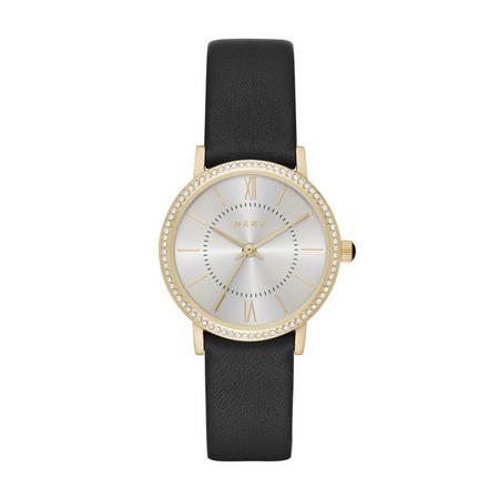 Willoughby Ladies Watch Black & Gold