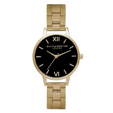 Midi Dial Bracelet Black Dial & Gold Watch