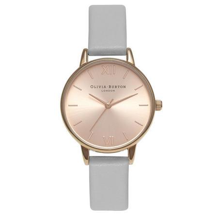 Midi Dial Grey & Rose Gold Watch