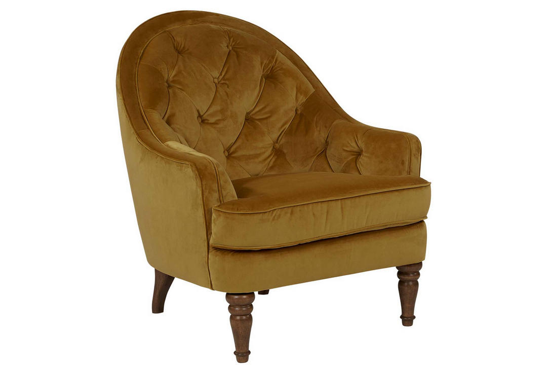 O'Hara Armchair Plush Velvet Honey