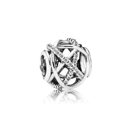 Galaxy Openwork Charm Sterling Silver