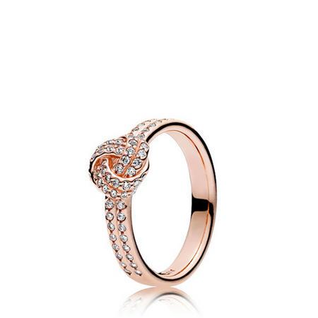 Sparkling Love Knot Ring Pandora Rose