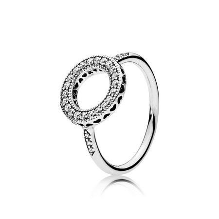 Hearts of PANDORA Halo Ring Sterling Silver