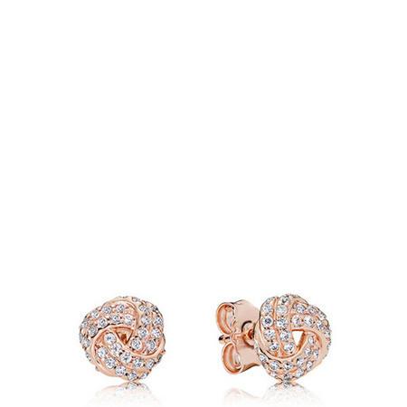 Sparkling Love Knot Earrings Pandora Rose