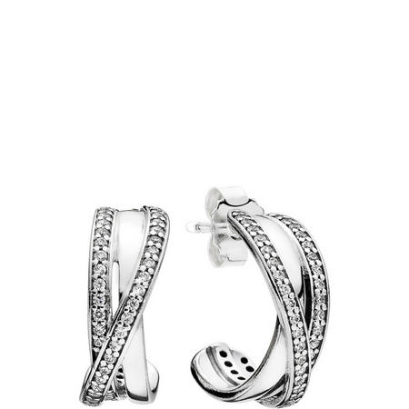 Entwined Charm Earrings Silver