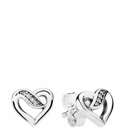 Ribbons of Love Earrings Sterling Silver