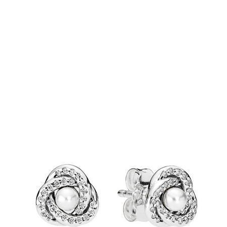 Luminous Love Knot Earrings Sterling Silver