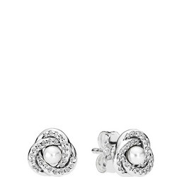 Luminous Love Knot Earrings SterlingSilver