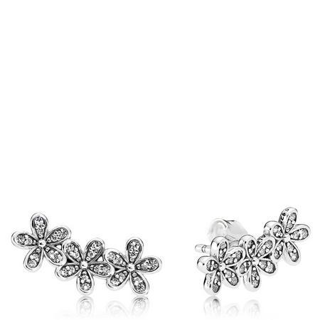 Dazzling Daisy Clusters Earrings SterlingSilver