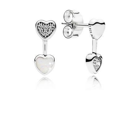 Hearts of Love Earrings Sterling Silver