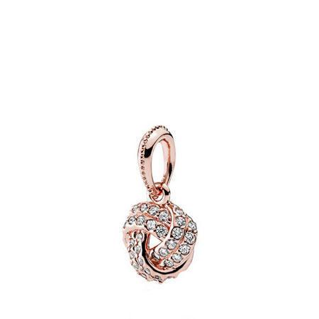 Sparkling Love Knot Necklace Pandora Rose