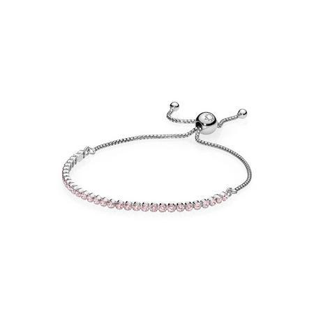 Pink Sparkling Strand Bracelet Bracelet SterlingSilver