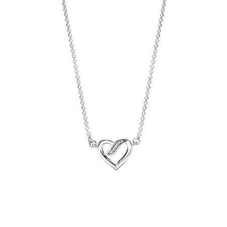 Ribbons of Love Necklace Sterling Silver