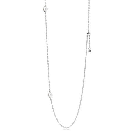 Luminous Dainty Droplets Necklace SterlingSilver