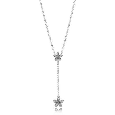 Dazzling Daisies Necklace SterlingSilver