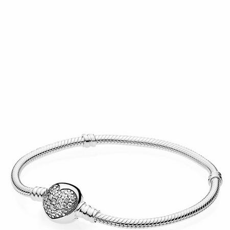 Moments Sparkling Heart Bracelet Sterling Silver