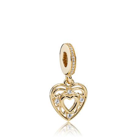 Romantic Heart Charm Gold14k