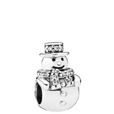 Snowman Charm Silver