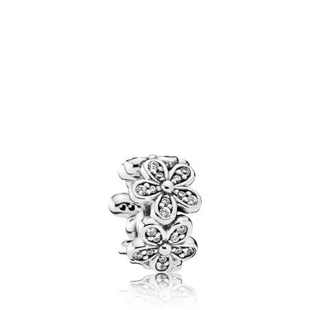 Dazzling Daisies Charm Sterling Silver