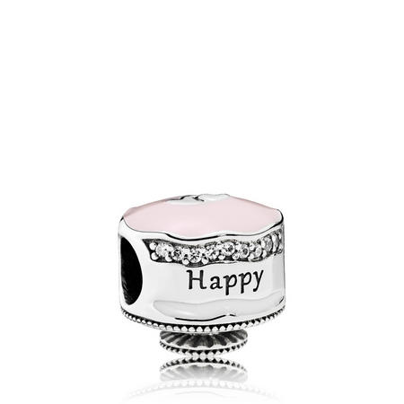 Happy Birthday Cake Charm SterlingSilver