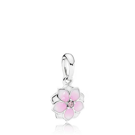 Magnolia Bloom Charm Sterling Silver