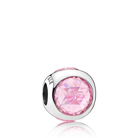 Pink Radiant Droplet Charm SterlingSilver