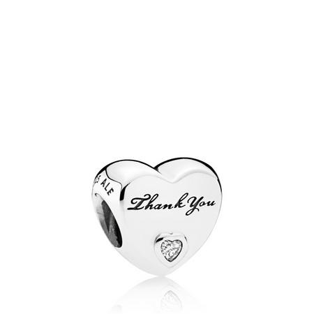 Thank You Charm Sterling Silver